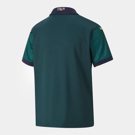 Camisa Seleção Itália Third Infantil 19/20 s/nº Torcedor Puma - Verde+Azul