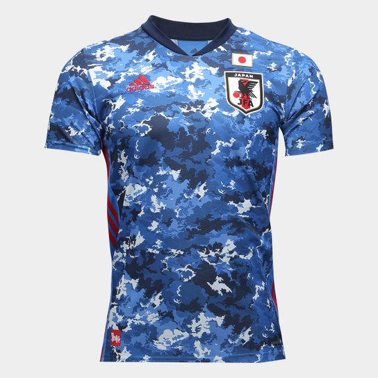 Camisa Seleção Japão Away 20/21 s/n° Torcedor Adidas Masculina - Azul