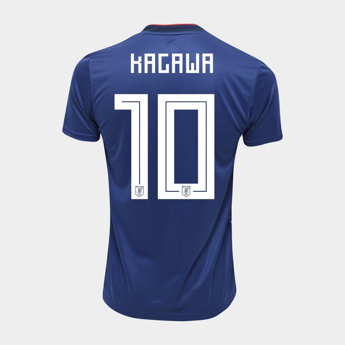 1e572f0b2803c Camisa Seleção Japão Home 2018 n° 10 Kagawa - Torcedor Adidas Masculina -  Compre Agora