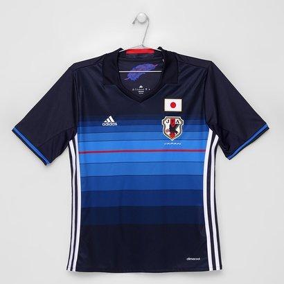 A Camisa Seleção Japão Infantil Home 2016 Adidas possui diferentes tons de  azul e13029d08dc