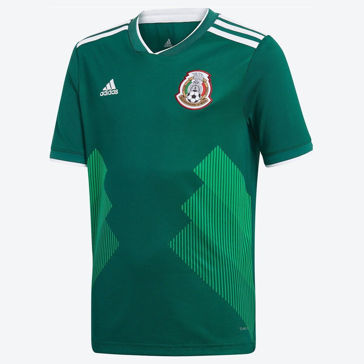 6c639161994b2 Camisa Seleção México Infantil Home 2018 s n° Torcedor Adidas - Verde -  Compre Agora