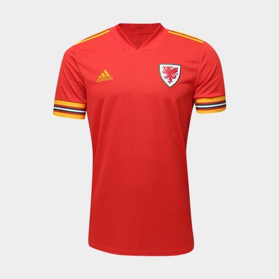 Camisa Seleção País de Gales Home 20/21 s/n° Torcedor Adidas Masculina - Vermelho