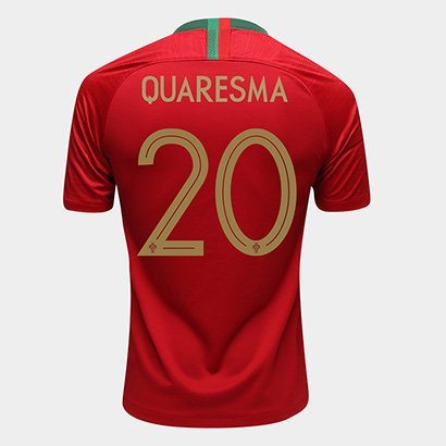 c6941fe865 Camisa Seleção Portugal Home 2018 N° 20 Quaresma - Torcedor Nike Masculina