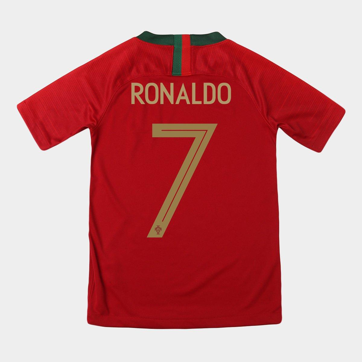 a2708510928dc Camisa Seleção Portugal Juvenil Home 2018 n° 7 Ronaldo - Torcedor Nike -  Compre Agora