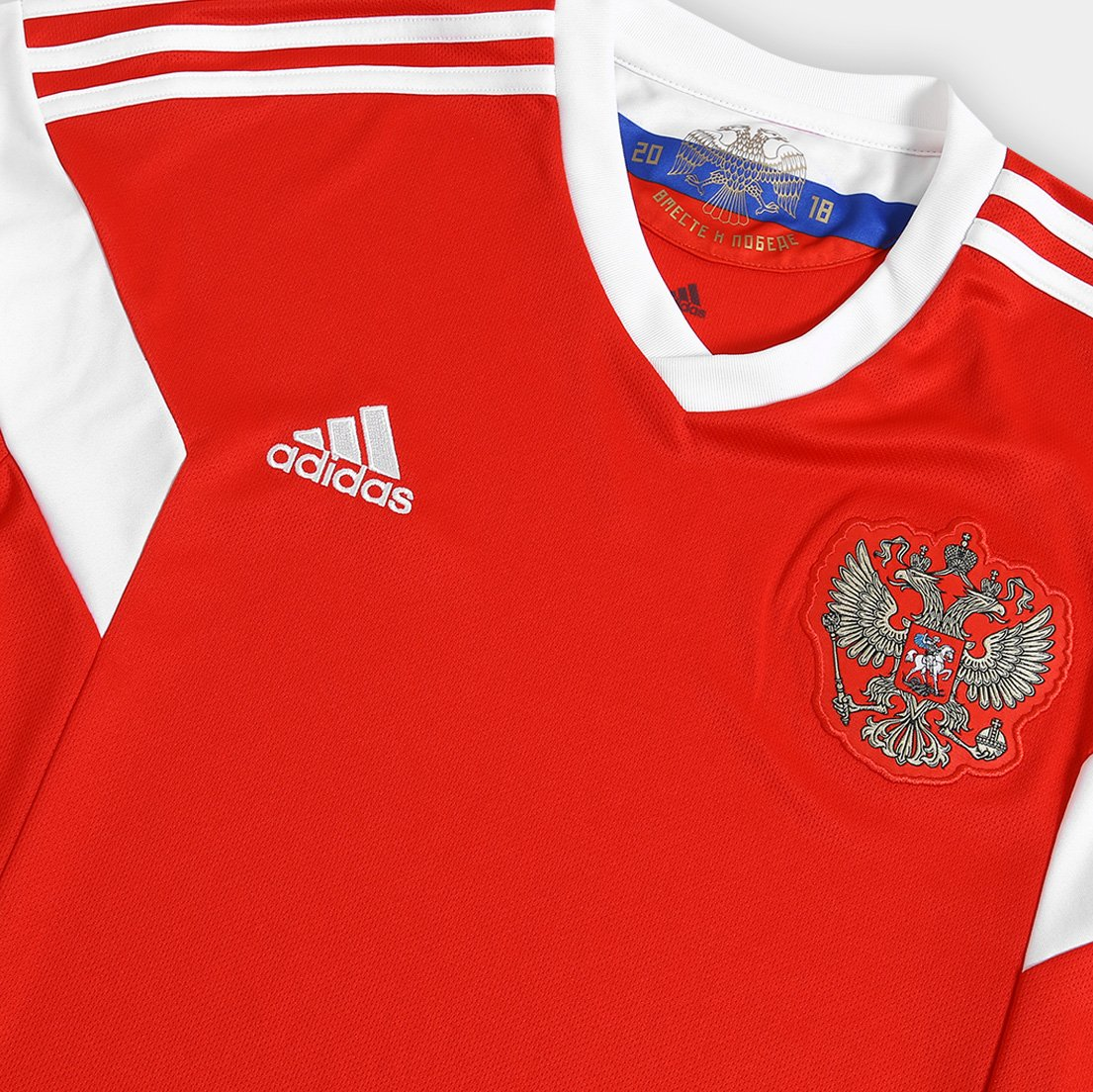 Camisa Seleção Rússia Home 2018 s n°Torcedor Adidas Masculina ... 00dd3f673f43d