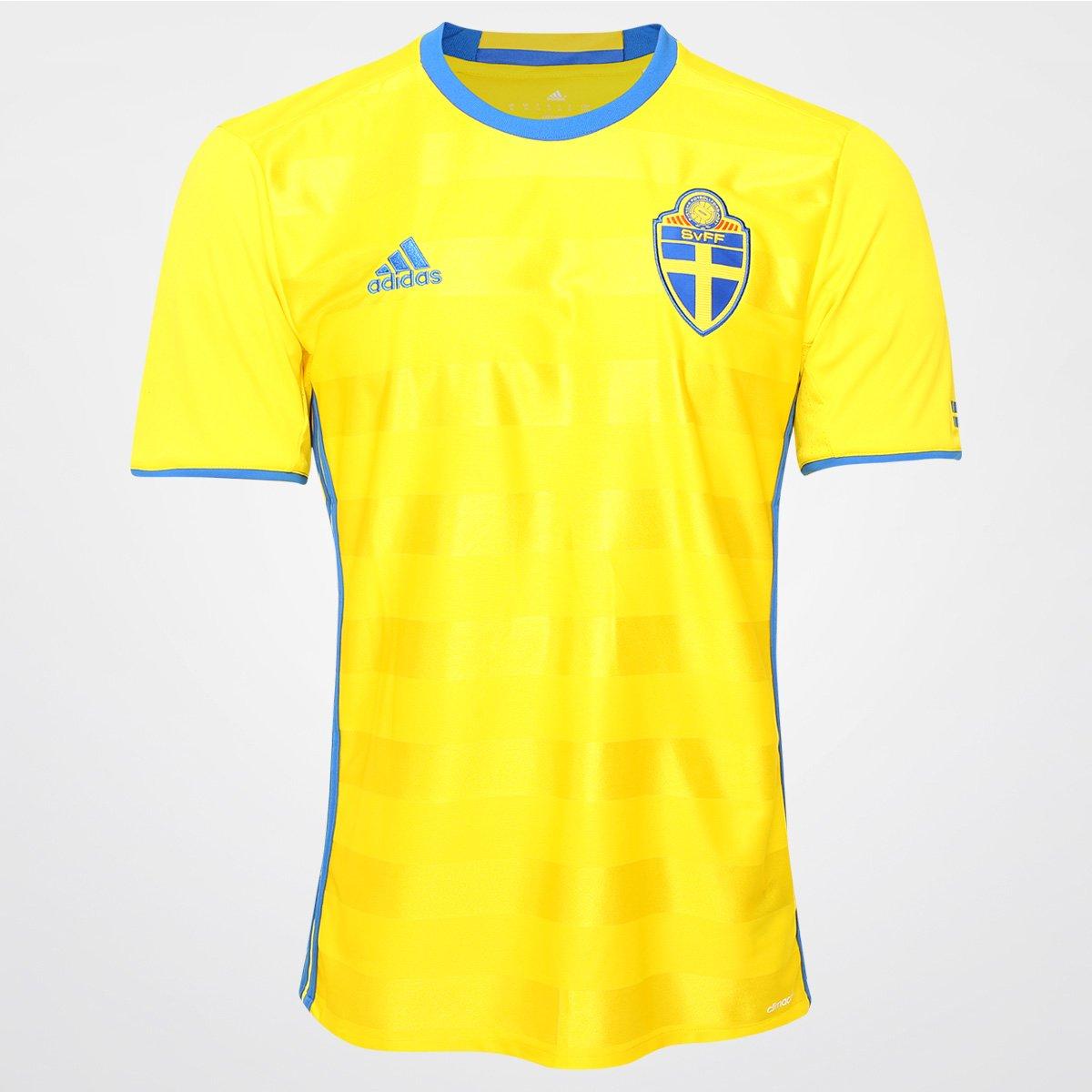 Camisa Seleção Suécia Home 2016 s nº Torcedor Adidas Masculina - Compre  Agora  7d938056c096a