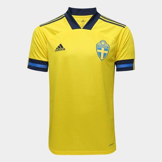 Camisa Seleção Suécia Home 20/21 s/n° Torcedor Adidas Masculina - Amarelo