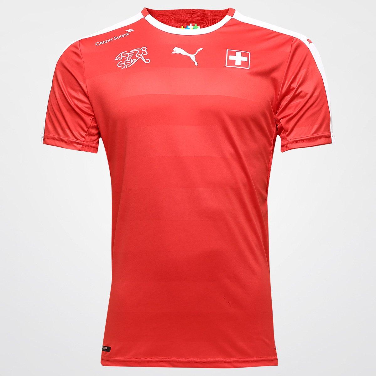 Camisa Seleção Suiça Home 2016 s nº Torcedor Puma Masculina - Compre Agora   3075d829d8597