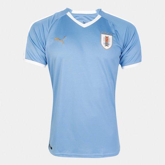 Camisa Seleção Uruguai Home 2019 Torcedor Puma Masculina - Azul