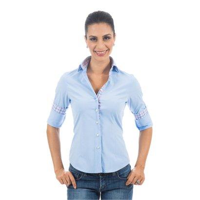 Camisa Social Colombo Lisa Feminino - Compre Agora  3a428b9d0693a