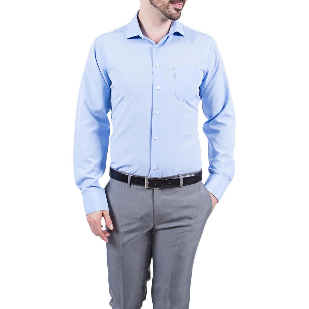 Camisa Social Colombo Lisa Masculino - Compre Agora  6dd58c34afb15