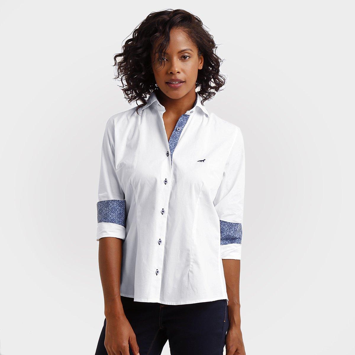 Camisa Social Cruzeiro Palla D Oro Feminina - Compre Agora  5d1cbba5662fe