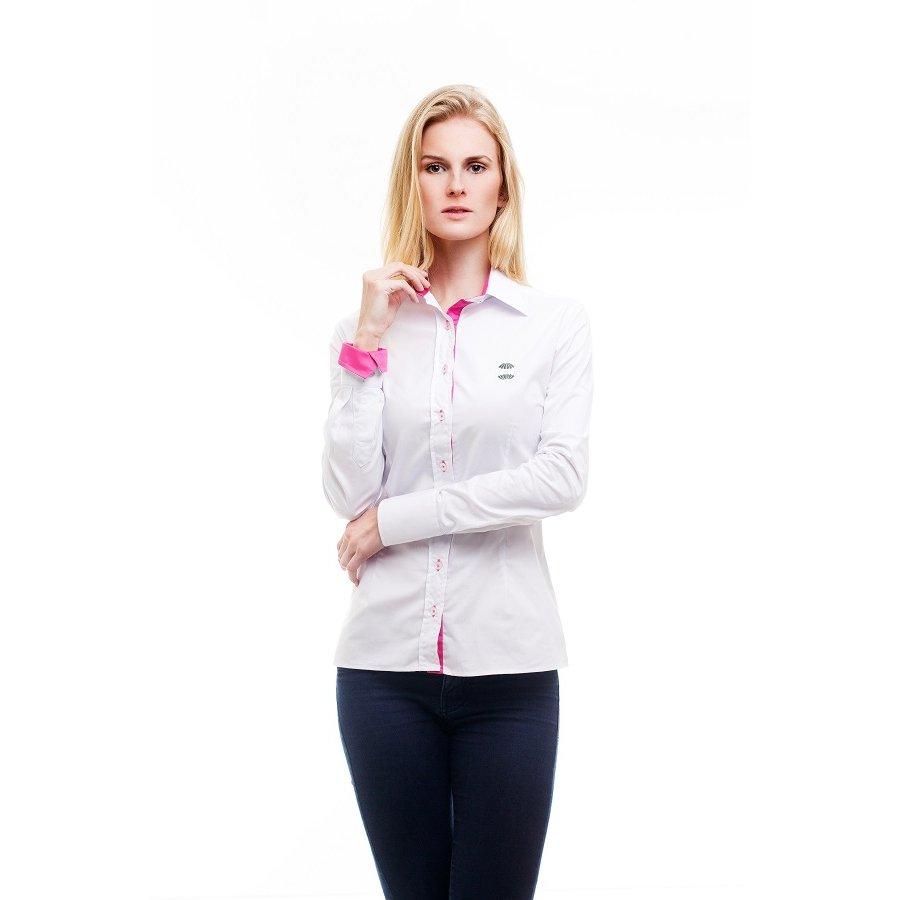 e4472f63b242b Camisa Social Hat Trick Coritiba - Branco e Rosa - Compre Agora ...