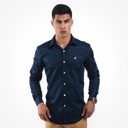 47adb3fe2a Camisa Social Horus Slim 1002 Masculina