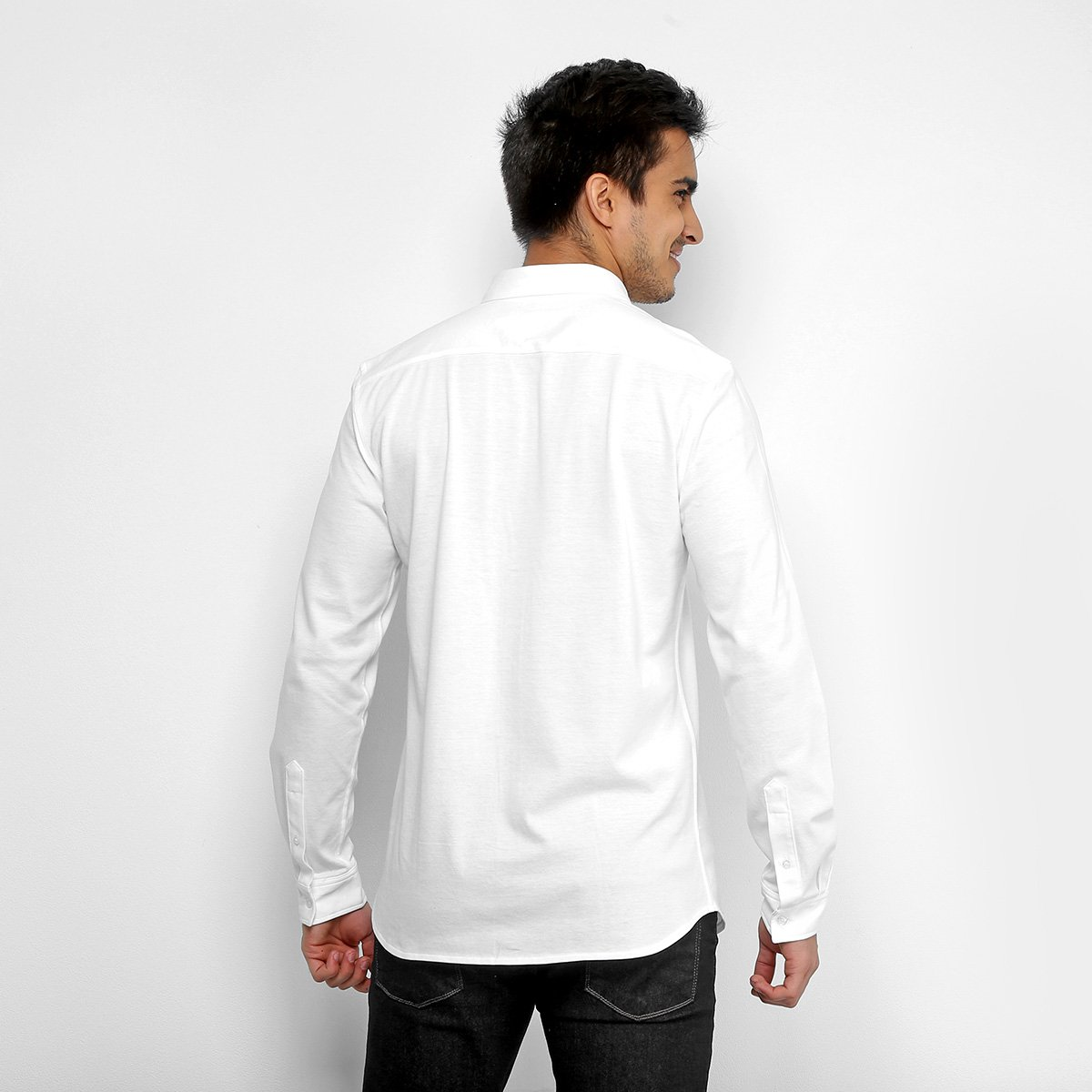 Camisa Social Lacoste Clássica Manga Longa Masculina - Compre Agora ... 56d81ccca0