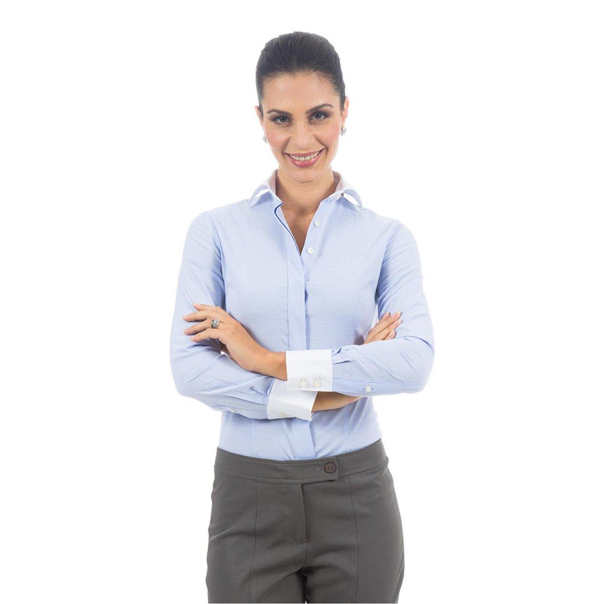 Camisa Social Lisa Colombo Feminino - Compre Agora  82805d4bda880