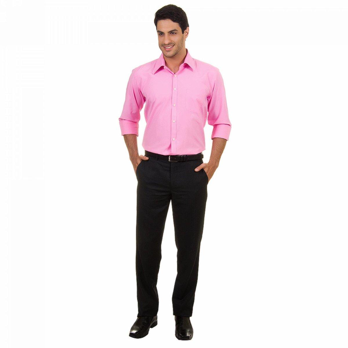 Camisa Social Lisa Masculino - Compre Agora  2b5a5e84e56a6