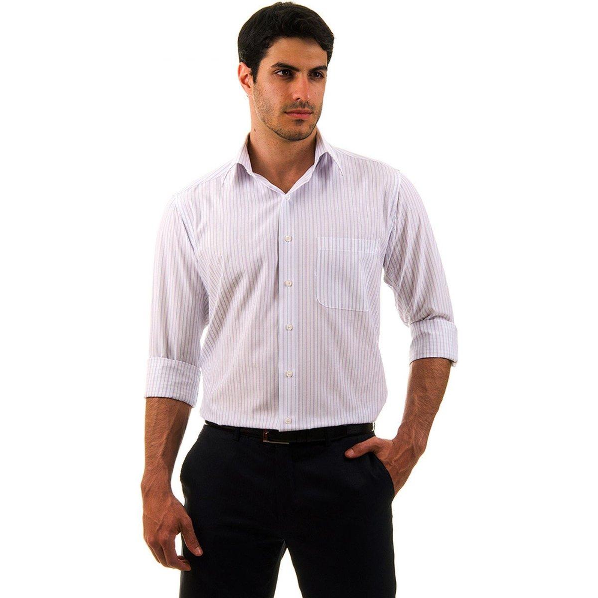 909bc01190 Camisa Social Listrada Colombo Masculino - Compre Agora