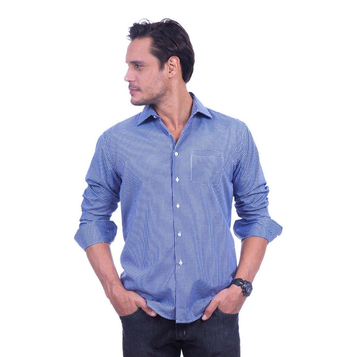56b393e2df Camisa Social Xadrez Colombo Masculino - Compre Agora