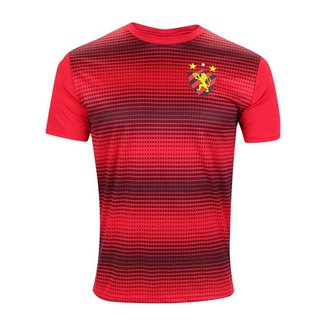 Camisa Sport Recife 2021 Treino Vintage Vermelha