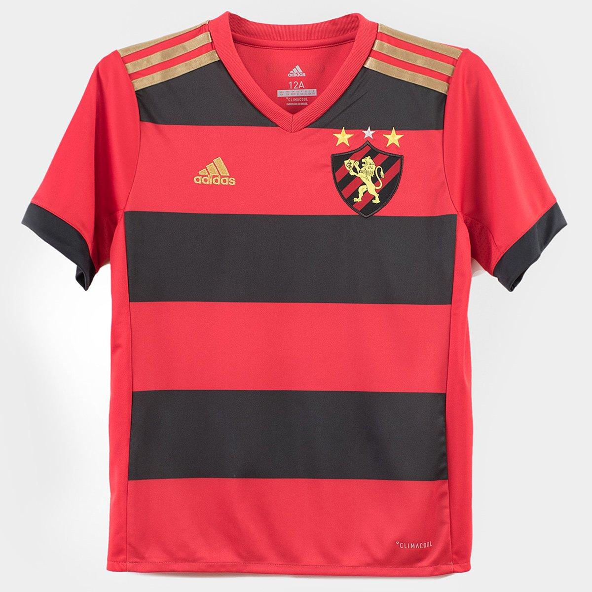 I Adidas Preto 18 s Sport e 17 nº Camisa Infantil Vermelho Recife Torcedor AtXzS