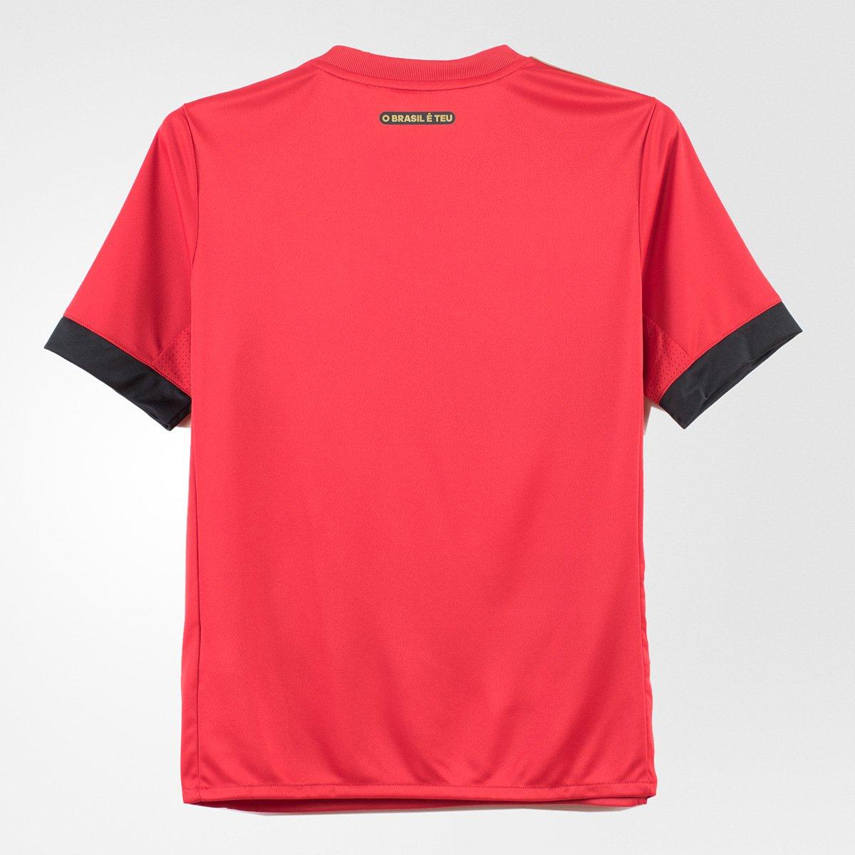 18 Preto e Recife I Sport Camisa s nº Infantil Adidas Torcedor 17 Vermelho HpX1q