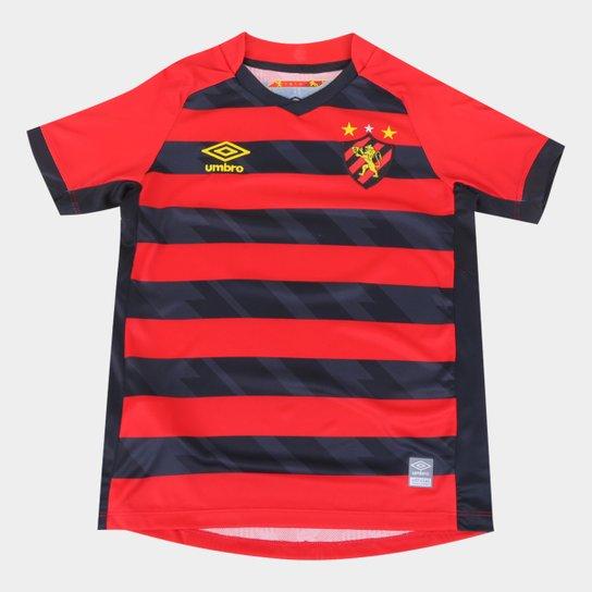 Camisa Sport Recife Juvenil I 21/22 s/n° Torcedor Umbro - Vermelho+Preto