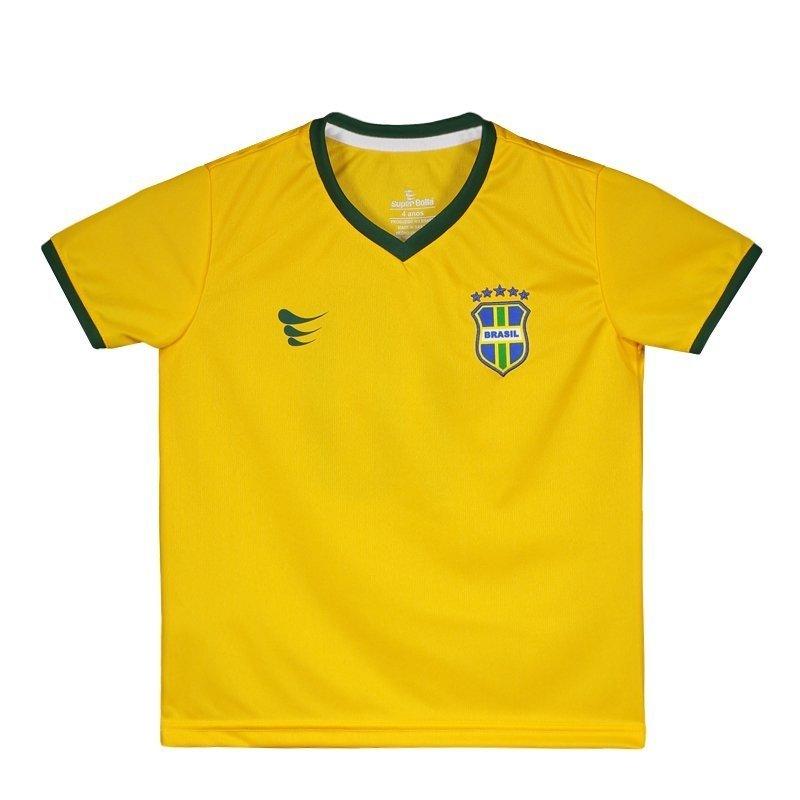 Infantil Brasil N° Torcedor Amarelo Super 10 Bolla 2018 Camisa qOnT6R0p