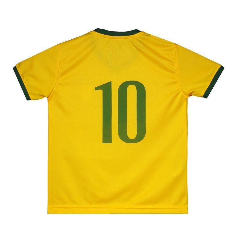 Amarelo Super 2018 Brasil N° Infantil Torcedor 10 Camisa Bolla ApUSaxUB
