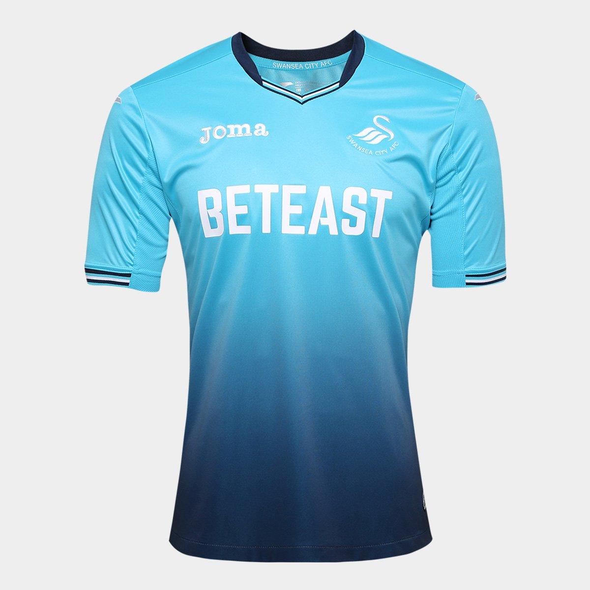 Camisa Swansea City Away 2017 s nº Torcedor Joma Masculina - Compre Agora  6363196562191