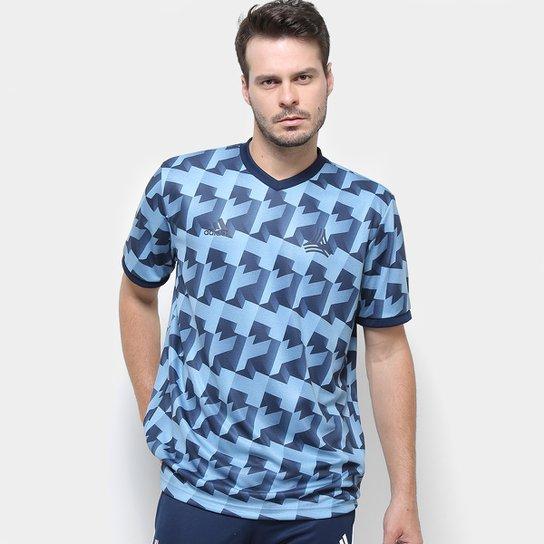 Camisa Tango All Over Print Adidas Masculina - Azul