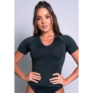 Camisa Térmica Manga Curta Segunda Pele MVB Modas Feminina
