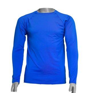 Camisa Térmica Manga Longa em Poliéster C/ Elastano Proteção UV