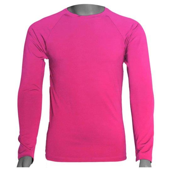 Camisa Térmica Manga Longa em Poliéster C/ Elastano - Rosa