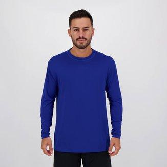 Camisa Térmica Numer UV50 I Manga Longa Azul