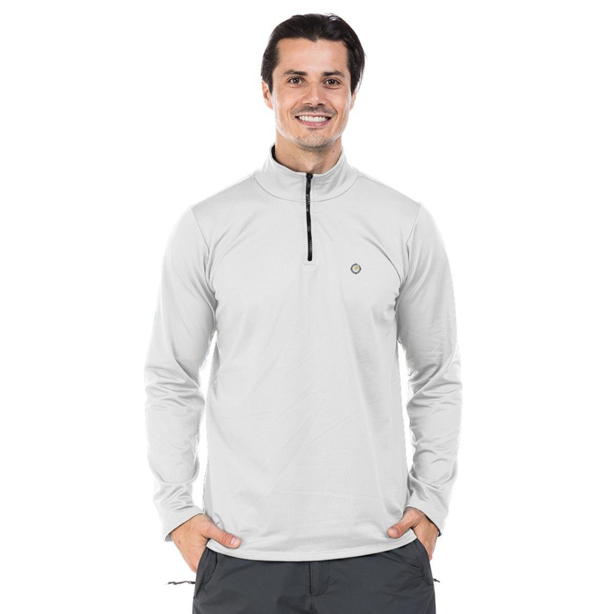 54b291b85f Camisa Térmica para Frio com Gola Alta Extreme UV - Branco - Compre Agora