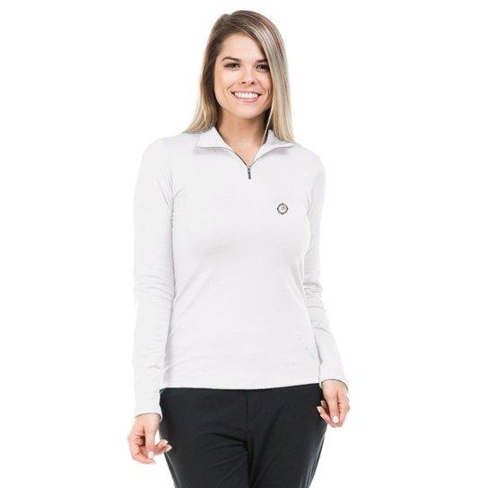 Camisa Térmica para Frio com Gola Alta Extreme UV - Branco