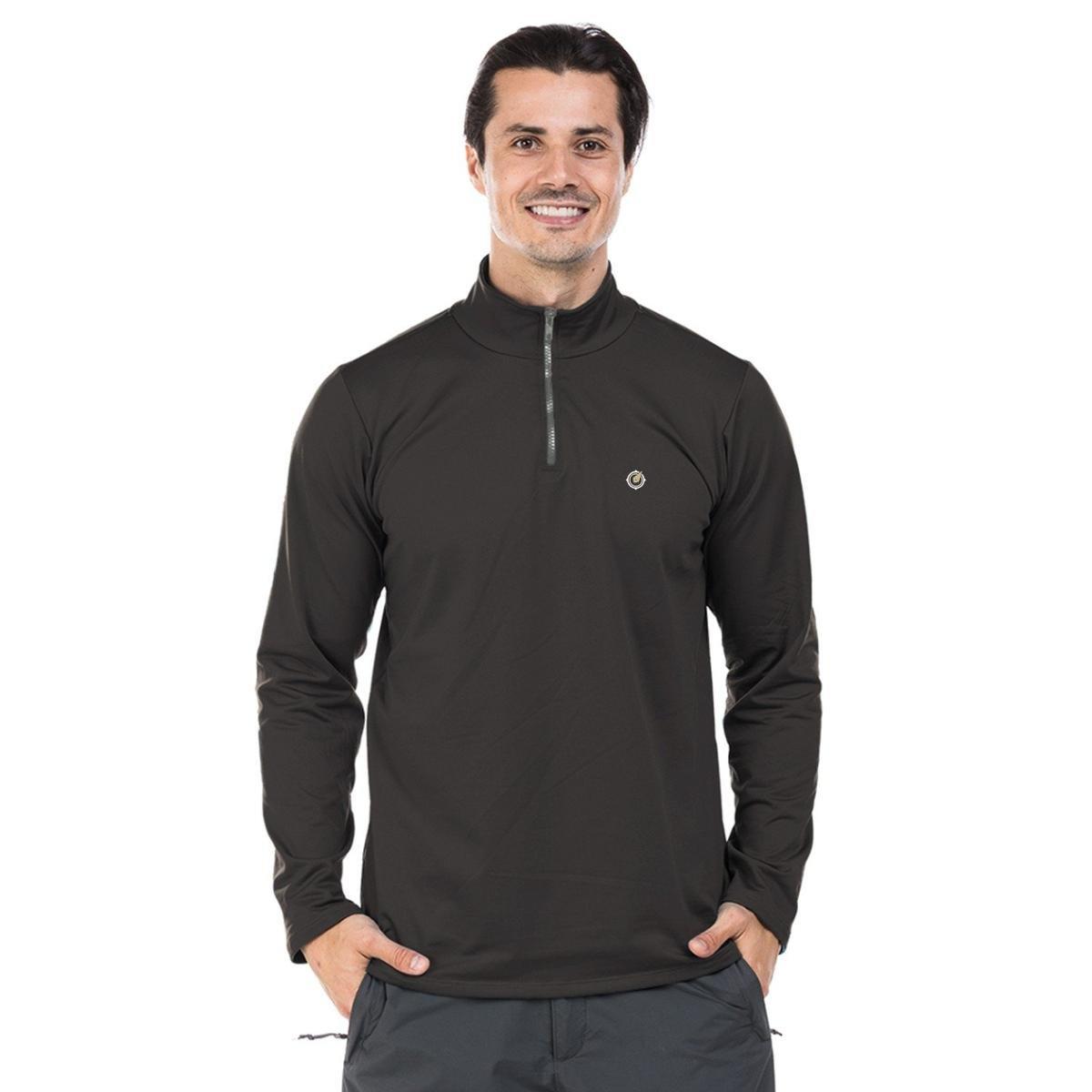 6011af6f412d4 Camisa Térmica para Frio com Gola Alta Extreme UV - Chumbo - Compre Agora