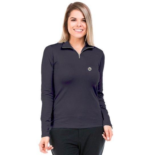 Camisa Térmica para Frio com Gola Alta Extreme UV - Chumbo