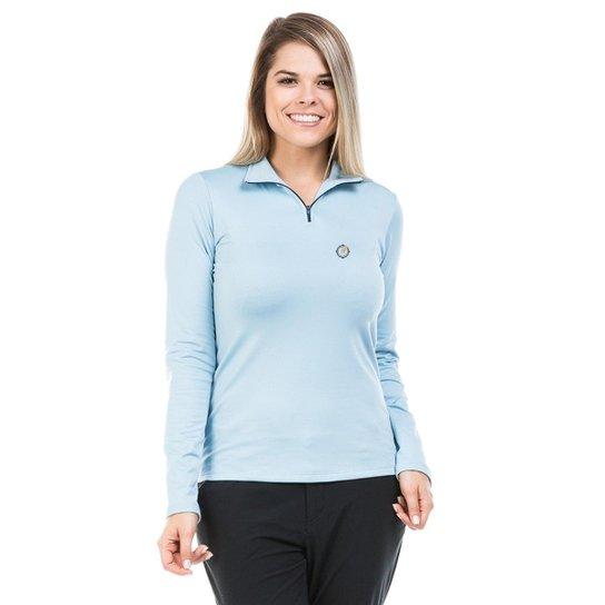 Camisa Térmica para Frio com Gola Alta Extreme UV - Azul Claro