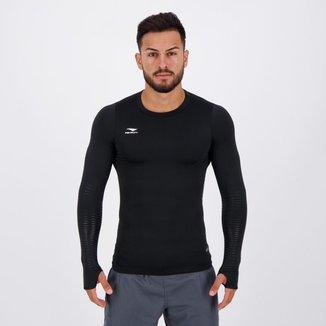 Camisa Térmica Penalty Delta Pro X UV Manga Longa Preta