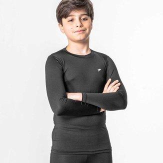 Camisa Térmica Poker Skin Infantil - Preto - M