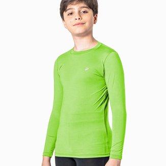 Camisa Térmica Poker Skin Infantil - Verde Limão - M
