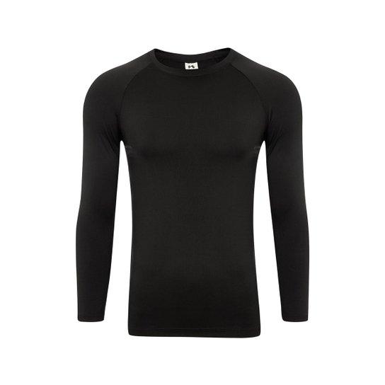 Camisa Térmica Segunda Pele - Preto