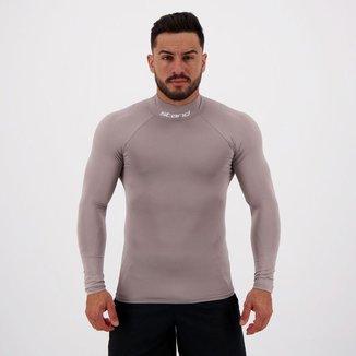 Camisa Térmica Stand Gola Alta Manga Longa Cinza