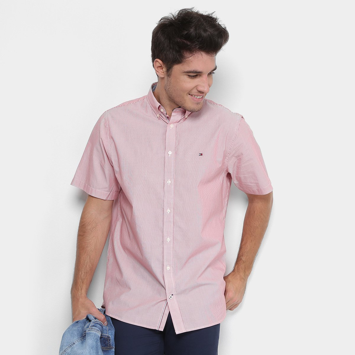 Camisa Tommy Hilfiger Manga Curta Regular Fit Masculina - Compre Agora  cf528ec3c42