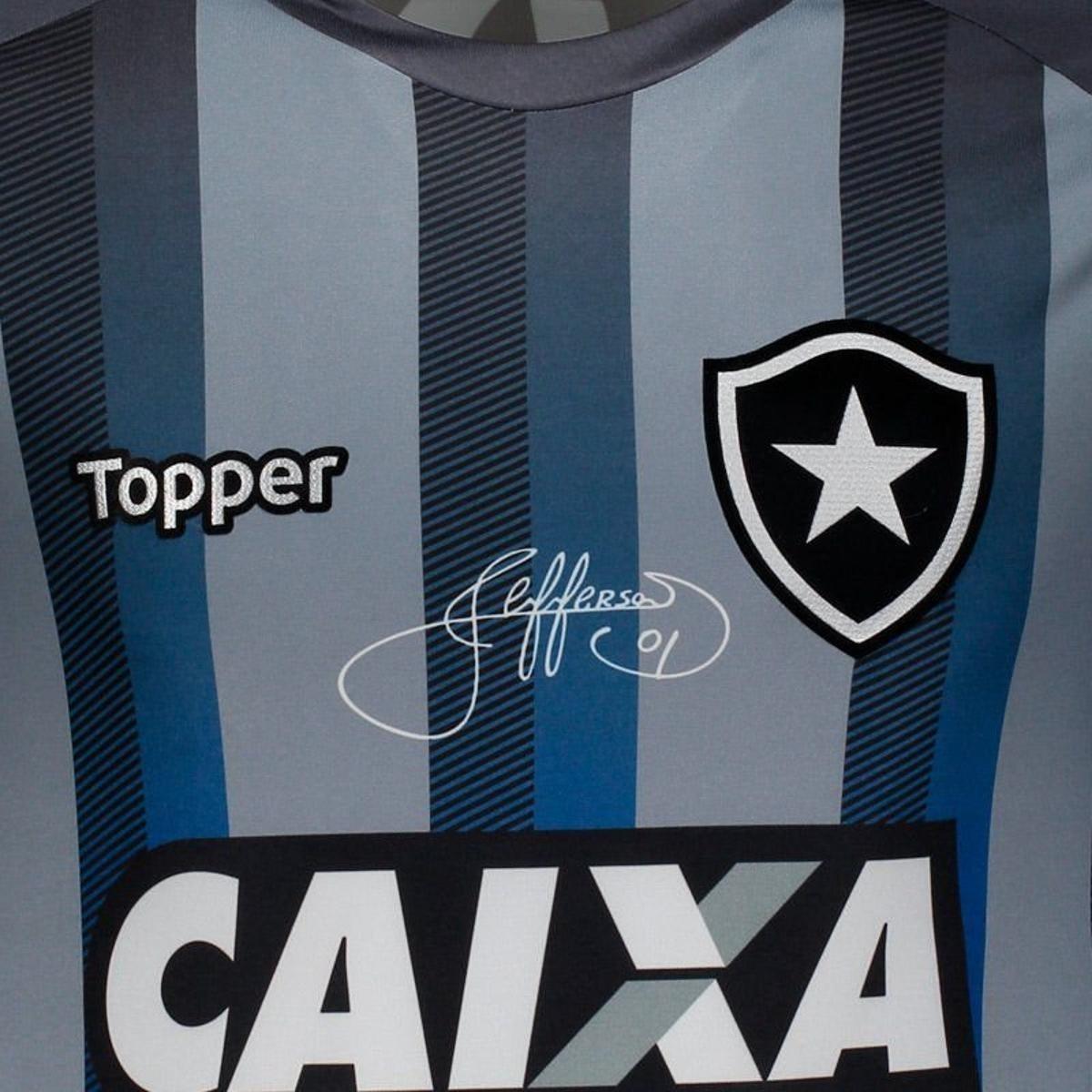 Camisa Topper Botafogo 2018 Despedida Jefferson - Cinza - Compre ... cfe9956fcff65