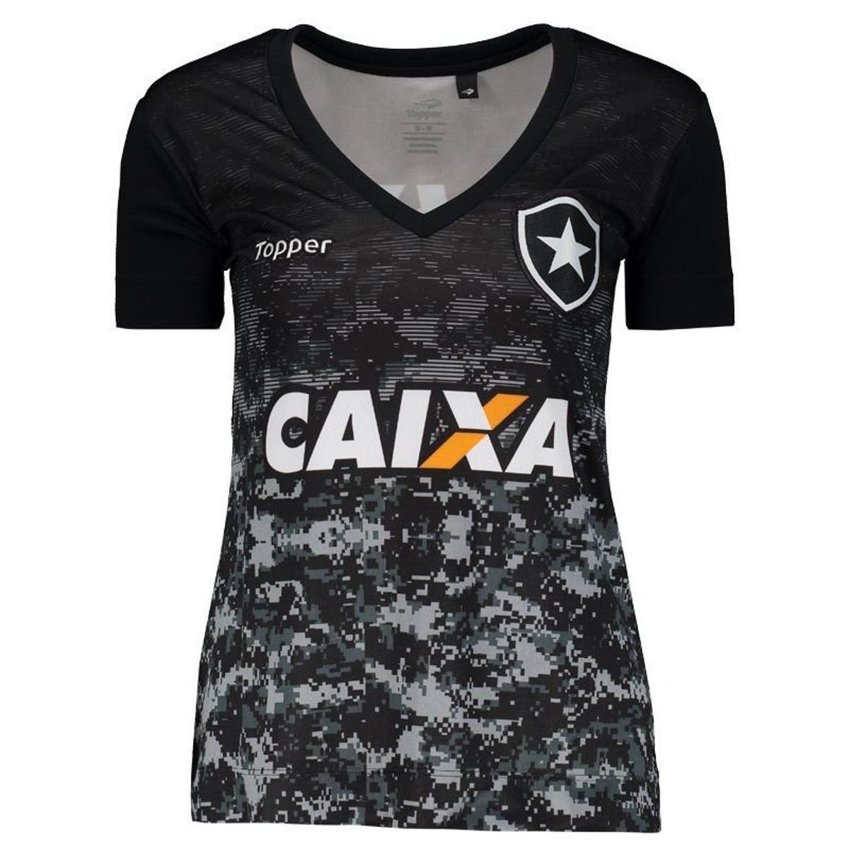 c5e9ae982a Camisa Topper Botafogo Aquecimento 2017 Feminina - Preto - Compre ...