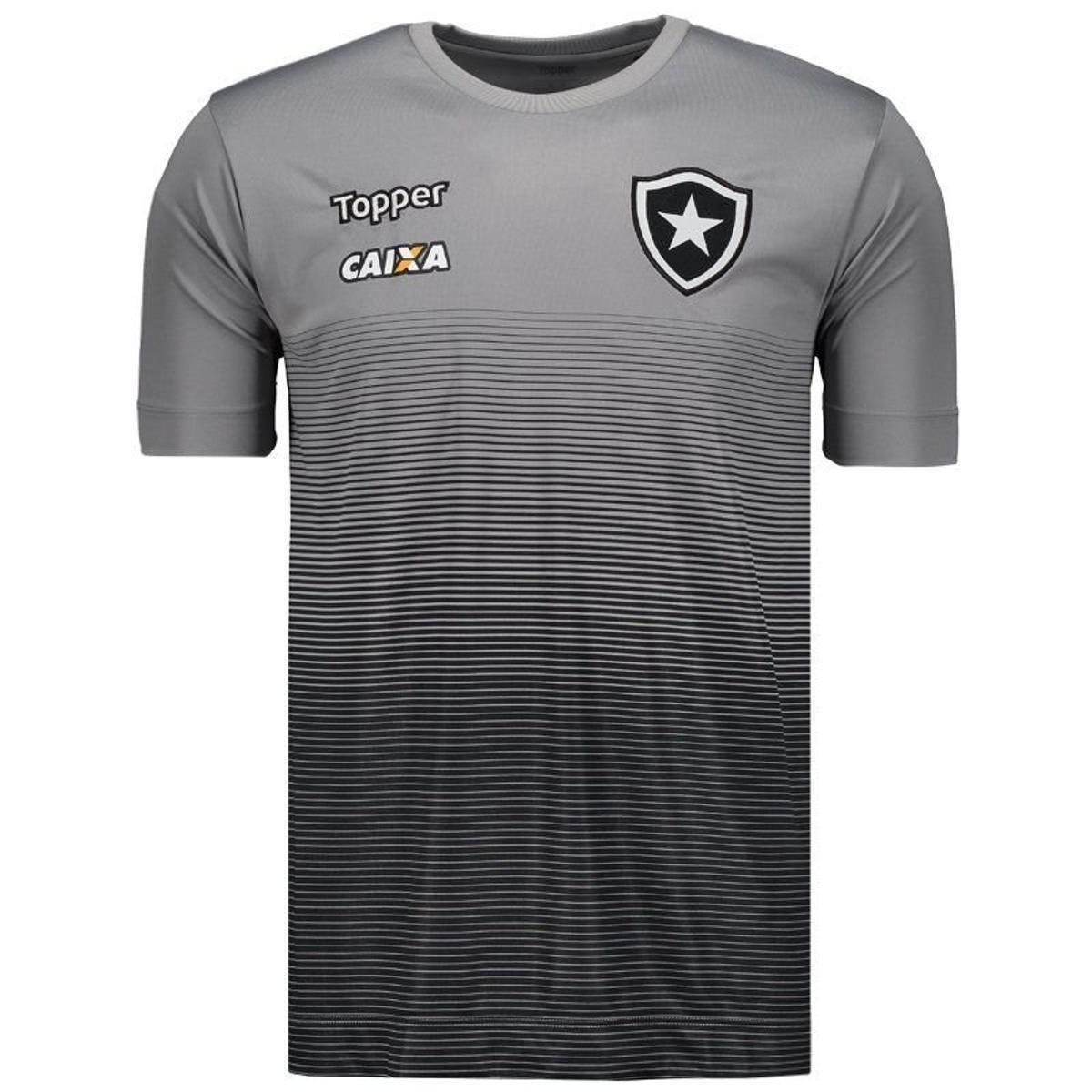 Camisa Topper Botafogo Concentração Comissão Técnica 2017 Masculina - Cinza  - Compre Agora  a62443aef8e
