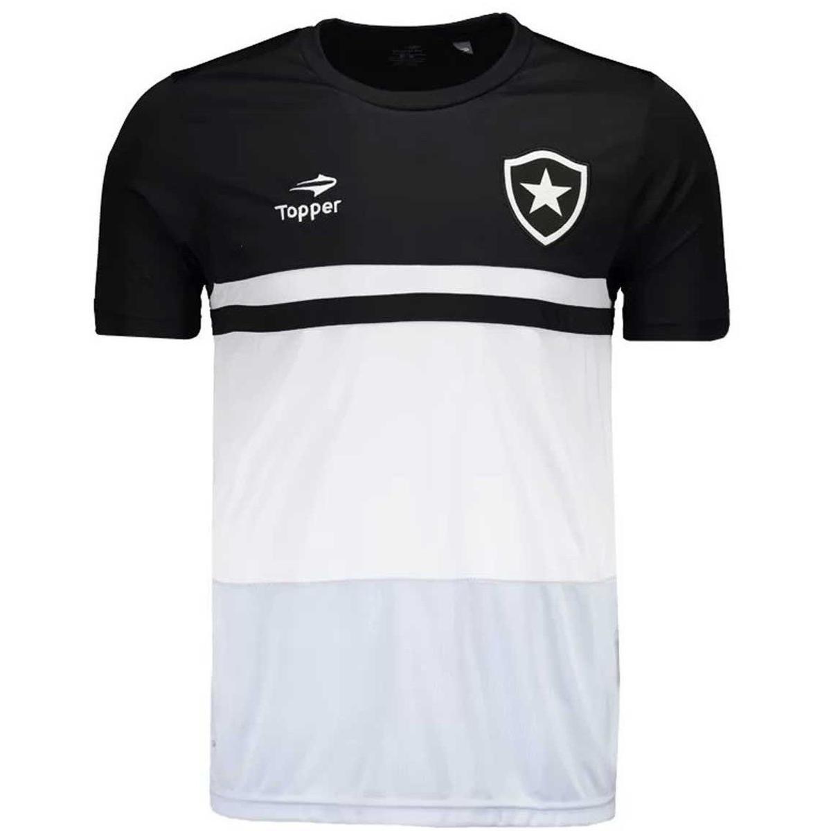 Camisa Topper Botafogo Concentração Masculina - Compre Agora  031cfb126da85